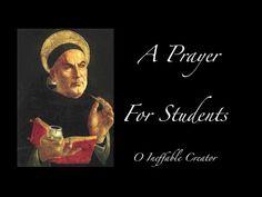 A Prayer For Students - Saint Thomas Aquinas