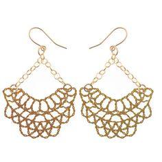 Kohl Gold Crochet Earrings