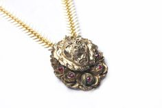 Ruby Lion Necklace — Glen & Effie