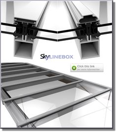 Self Supporting Skylights - Patent glazing aluminium roof conservatory 1 of 3 options for us... Paler grey?
