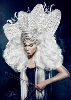 """""""My collection is inspired by the story of the four horsemen of the Apocalypse. To create these Avant Garde hairstyles I've used Balmain Hair products. I really loved working with Balmain Hair. Balmain Hair's the first choice of many session stylists all over the world, because of its versatility!"""" Hairstylist: Sanjay Ramcharan Make-up Artist: Hanane Naji Photographer: Richard Monsieurs Stylist: Sanjay Ramcharan Clothing: Sheguang Hu Hair: Balmain Hair"""