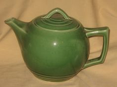 Vntg McCoy Art Deco Classic Green Teapot Tea Pot 32oz Pottery Mid Century | eBay