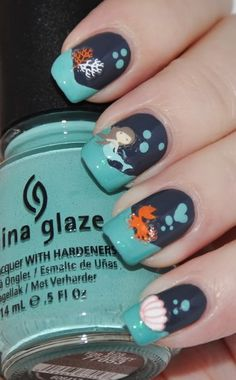mermaid art | ... of fairy-tale themed nail art (perfect for the pantomime season