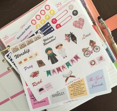 SET004 Ramadan Islam Muslim fasting tracker set planner stickers for Erin Condren & other planners, diaries and calendars