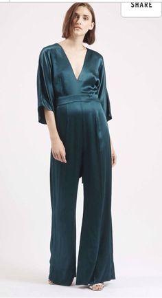 Topshop TEAL Kimono Sleeve Jumpsuit Uk10 RRP £75 new Seasons* | eBay