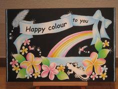 ペールトーンでHappy colour to you =) の画像|ハワイアンチョークアート&パステル和アート~Happy Colour~