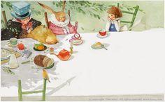 Alice in Wonderland illustration by Kim Min Ji Alice Kim, Kim Min Ji, Alice In Wonderland Illustrations, Hansel Y Gretel, Lewis Carroll, Adventures In Wonderland, Children's Book Illustration, Watercolor Illustration, Illustrations And Posters