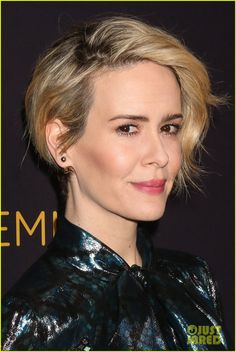 Sarah Paulson Lands Role of Geraldine Page in 'Feud' | sarah paulson rami malek celebrate peers 02 - Photo