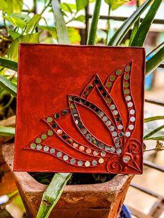 Clay Wall Art, Clay Art, Mirror Artwork, Mirrors, Mirror Crafts, Diy Mirror, Indian Folk Art, Indian Art Paintings, Home Living