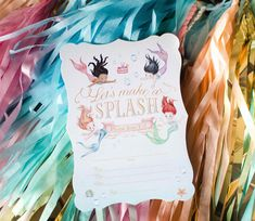 Invitation by Loralee Leeis from a Magical Mermaid Birthday Party via Kara's Party Ideas! KarasPartyIdeas.com