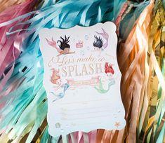 Invitation by Loralee Leeis from a Magical Mermaid Birthday Party via Kara's Party Ideas! KarasPartyIdeas.com