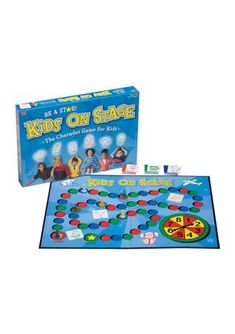 University Games Kids On Stage Board Game - - Toddler Speech, Toddler Books, Acting Games For Kids, Small World Board Game, Folder Games For Toddlers, Candyland Board Game, Charades Game, Preschool Speech Therapy, Action Cards
