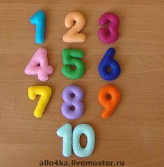 Развивающие игрушки ручной работы. Ярмарка Мастеров - ручная работа Цифры из фетра. Handmade.