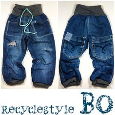 Jeans-im-Recyclestyle-BO-farbenmix-de Baby Leggings, Baby Pants, Short Niña, Sewing For Kids, Baby Wearing, Kids Wear, Diy Clothes, Passion For Fashion, Body
