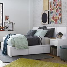 Storage Bed Frame - White | west elm