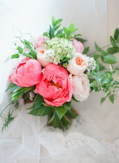 pink peony flower bouquet by Twigged Flowers By Tali