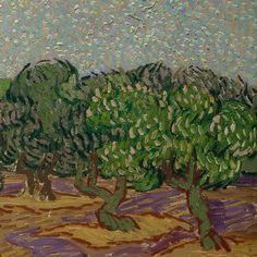 Olive Trees (detail) by Vincent van Gogh | Lone Quixote | #VincentvanGogh…