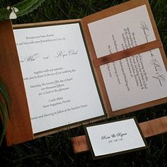 Wooden Pocket-fold Wedding Invitation / Set of 25/ Rustic Wedding Invitation / Invitation folio / wooden folio / Bohemian invitation - Wedding party invitations (*Amazon Partner-Link)