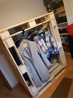 Create More Storage With This Pallet Wardrobe!