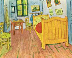 Vincent\'s Bedroom in Arles, 1888, Vincent van Gogh Medium: oil on ...