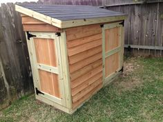 Lawnmower Shed | Do It Yourself Home Projects from Ana White love the gate latches