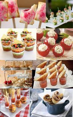 Mini food is so nice for weddings. Lots of variation.