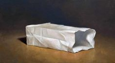 White Bag by T. Garrett Eaton STUDIO Gallery http://www.studiogallerysf.com/joevic-yeban-and-tgarrett-eaton/i7a2lqfq615ovuoppc10d31coilmt3