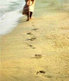 walk in the sand on Siesta Key