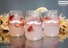 Personalized Mason Jar Tumbler - Custom Engraved Glass Mason Jar - Personalized Groomsman Gift - Rustic Wedding by LetsTieTheKnot