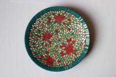 Petit plat creux en mosaïque, vide poche : Accessoires de maison par mosa-louisa