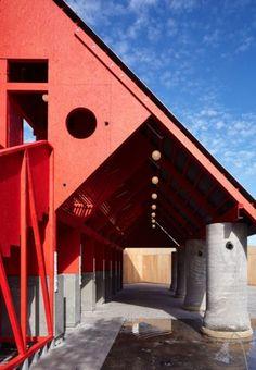New-Horizons-LFA-Red-Yellow-Pavilion-Hall-McKnight_TAKA-Clancy-Moore-Steve-Larkin_dezeen_468_2