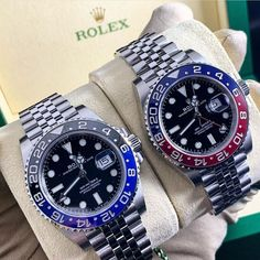 Batman and Robin. Bracelet Cuir, Bracelet Watch, Luxury Watches, Rolex Watches, Cool Watches, Watches For Men, Rolex Gmt Master, Luxury Life, Spice Things Up