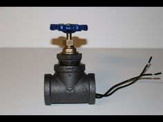 Updated version: DIY Water Valve Light Switch for pipe lamp. Parts list in description - YouTube