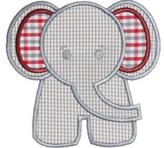 Elephant Applique Design by AppliqueMommaDesigns on Etsy