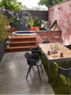 Jacuzzi Outdoor, Outdoor Spa, Outdoor Landscaping, Outdoor Rooms, Outdoor Living, Outdoor Furniture Sets, Spa Jacuzzi, Hot Tub Garden, Hot Tub Backyard