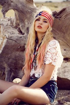 bohemian all-American inspired look hippie chic - boho - bohemian gypsy style