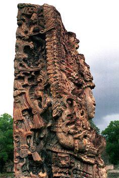 Los mayas, Copán. Estela