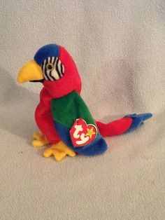 a473645cf8f TY JABBER ~ THE PARROT ~1997 HARD TO FIND~ Beanie Baby~ MWMT S ~