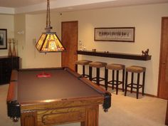 room design Browse photos of Basement Rec Room. Find ideas and inspiration for Basement Rec Room to add to your own home. See more ideas about Game room basement, Game room and Finished basement bars. Game Room Bar, Game Room Basement, Game Room Decor, Basement Kitchen, Basement Office, Rustic Basement, Basement Bathroom, Bathroom Storage, Bonus Room Design