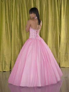lace up back prom dress