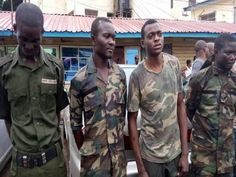 Four Fake Soldiers Arrested In Lagos (SEE PHOTO)