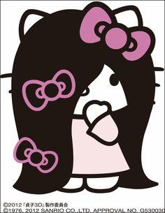 Hello Kitty x Sadako (the creepy girl from Ringu)
