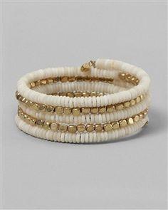 coiled bead bracelet