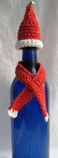Wine Bottle Hat and Scarf Set