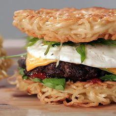 Meet the latest, greatest food craze since the cronut: the ramen burger.  Inspired by this over-the-top delight, we've developed a home-kitchen-friendly version — try it out and see what all the hype is about!