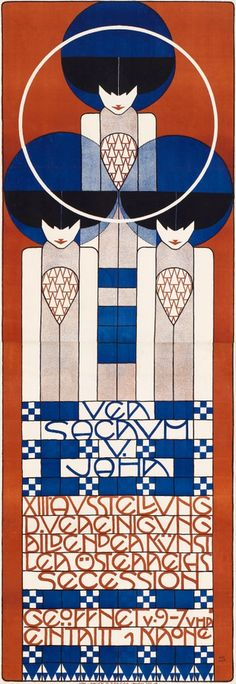 Poster by Koloman Moser (1868-1918), 1902, The Thirteenth Vienna Secession exhibition. iL