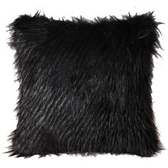Luxury Plush Fur Household Faux Fur Pillow Cover Black Plush (298.090 IDR) ❤ liked on Polyvore featuring home, home decor, throw pillows, array0x14e37550, fur throw pillows, black accent pillows, plush throw pillows, black throw pillows and black toss pillows