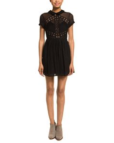 Free People All That Talk Black Lace Pintuck Pleated Dress is on Rue. Shop it now.