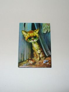 Vintage Pity Kitty Magnet DEADSTOCK by SHOPHULLABALOO on Etsy, $4.99