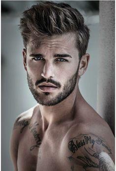 Men Photography, Boyish, Hair And Beard Styles, Tatoos, Sexy Men, Handsome, Poses, My Favorite Things, Guys